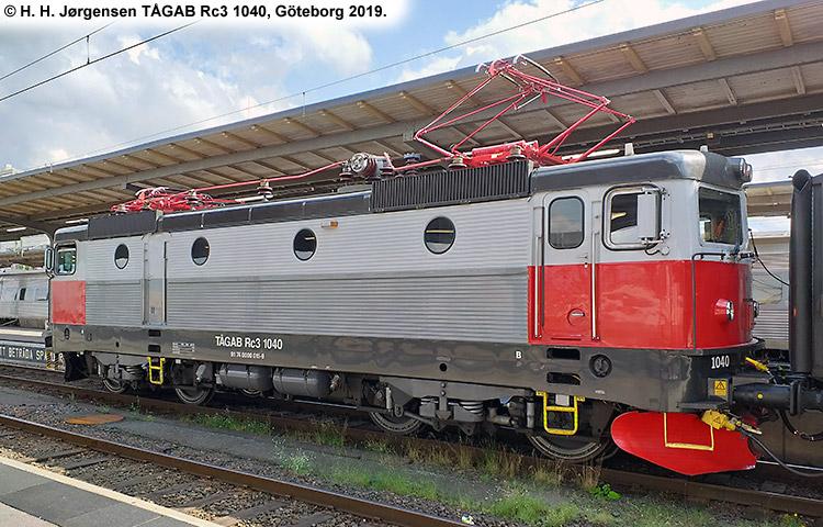 TÅGAB Rc3 1040